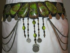 Tribal Fusion Bellydance Belt. $175.00, via Etsy.