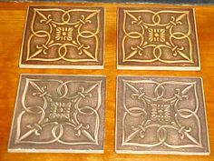 Metal Tile IMAGE on Ceramic 4.25 x 4.25 tile by TwoPuppys on Etsy