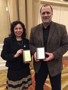 """Congratulations to Marcela Levin and Felix Flores! They are the recipients of the """"Our Strength in Service Award,"""" given by the Westchester-East Putnam Region PTA."""