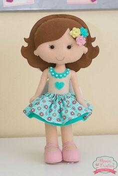 Moldes de Bonecas em FELTRO Baixar molde de boneca para produção de artesanato em feltro. Faça lindas bonequinhas em feltro com ...