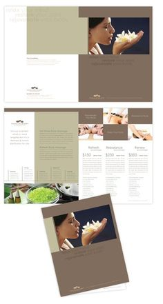Spa Brochure Design can help attract the consumers attention