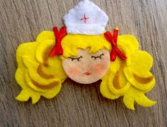 partyandcraft, Brooches, pin, doll, felt, candy candy,