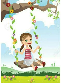 Buy Girl Swinging on a Tree by artisticco on GraphicRiver. A vector illustration of a cute little girl swinging on a tree. Vector illustration, zip archive contain eps 10 and h. Girl Swinging, Spring Scene, Kids Swing, Color Pencil Art, Cute Little Girls, Cute Drawings, Vector Art, Ideas, Illustration