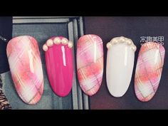 【Watchnail Recommended-806th phase】Elegant Flowers with Freehand【窝趣美甲推荐-第806期】优雅气质手绘花朵款.mp4 - YouTube