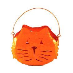 Orange Cat Candle Holder