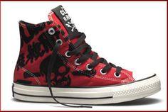 The Clash Chucks Converse Chuck Taylor High, Converse High, High Top Sneakers, The Clash, Chuck Taylors High Top, Rock And Roll, High Tops, Shoes, Fashion
