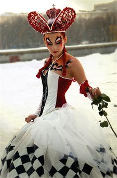 Sexy Costume Queen of Hearts Halloween Costume Halloween, Cool Costumes, Cosplay Costumes, Halloween 10, Costume Queen, Queen Of Hearts Costume, Wonderland Costumes, Alice In Wonderland Party, Halloween Karneval