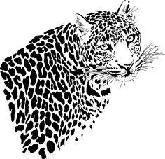 leopard stencil - Google Search
