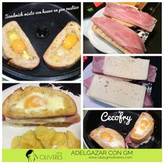 Sandwich mixto con huevo en pan rústico - Cecofry Actifry, Cantaloupe, Fruit, Ethnic Recipes, Food, Deep Fryer, Eggs, Oven, Oil