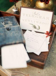 """""""telegram"""" notes as a guest book"""