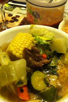 Mexican beef soup❤ my dad Mexican Cooking, Mexican Food Recipes, Beef Recipes, Soup Recipes, Cooking Recipes, Healthy Recipes, Mexican Beef Soup, Mexican Dishes, Beef Dishes