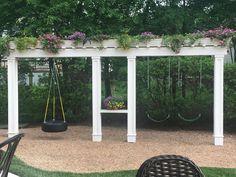 36 Super Ideas Backyard Shade Diy Swing Sets …o construct an aluminum pergola … Diy Pergola, Building A Pergola, Pergola Swing, Wooden Pergola, Pergola Shade, Pergola Ideas, Metal Pergola, Outdoor Pergola, Landscaping Ideas