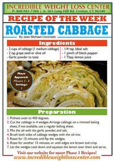 ideal protein Roasted Cabbage