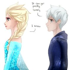 Jack x Elsa. Jalsa/Jelsa. Love this pairing! XD