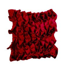 "Red Pillowcases in Fun Flirty Ruffles Design - Decorative Throw Pillow Cover in Red - Handmade Sateen Pillowcovers - Pretty Red Throw Pillows - Ruffled Throw Pillow Covers - Ruffle Cushion Covers (14"" x 14"") Amore Beaute http://www.amazon.com/dp/B00V82D87Q/ref=cm_sw_r_pi_dp_q1csvb1BMQHXK"