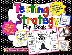 Testing Strategy Flip Book - Get your students ready for the BIG test with this testing strategy flip book! .  A GIVEAWAY promotion for Testing Strategy Flip Book: Rock the Test! from Chrissie Rissmiller on TeachersNotebook.com (ends on 2-8-2014)