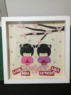 Enfeite para porta de maternidade (Lais Miki e Leticia Lika) #enfeitematernidade #sakurababy #babygirl #twins