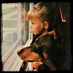 Kendra and Brandy looking out the window