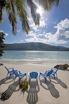 Pull up a chair! Magens Bay - St. Thomas #Caribbean #caribbean #island #sea #beach #cruise #cruisefriend