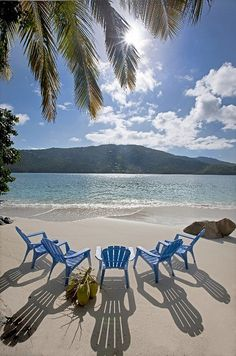 Pull up a chair! Magens Bay - St. Thomas #Caribbean