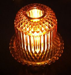 Amber Fairy Light Gl Candle Holder With Chimney