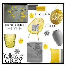 """Yellow & Grey"" by tlb0318 ❤ liked on Polyvore featuring interior, interiors, interior design, home, home decor, interior decorating, Sofiacashmere, Jeffan, BoConcept and Cultural Intrigue"