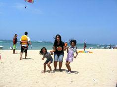 after para-sailing at Tanjung Benoa, Bali