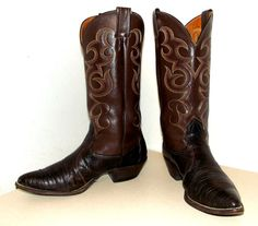 Vintage Rich Chocolate Brown leather Nocona boots