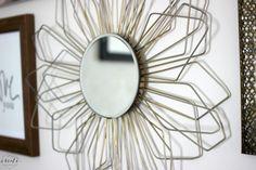 Sunburst Mirror From Coat Hangers