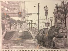 "Jody Regan Paints: ""Stopping on HIgh Street""  9 x 12  mixed  #dailydr..."