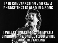If in a conversation, you say...