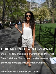 #Ouidad Pin To Win A Custom Haircare Collection from #Ouidad ! Re-pin this image and make sure you are following @birchbox and @Ouidad The Curl Experts!