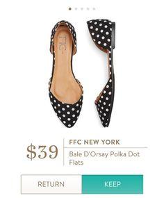 FFC NEW YORK Bale D'Orsay Polka Dot Flats from Stitch Fix.   https://www.stitchfix.com/referral/4292370
