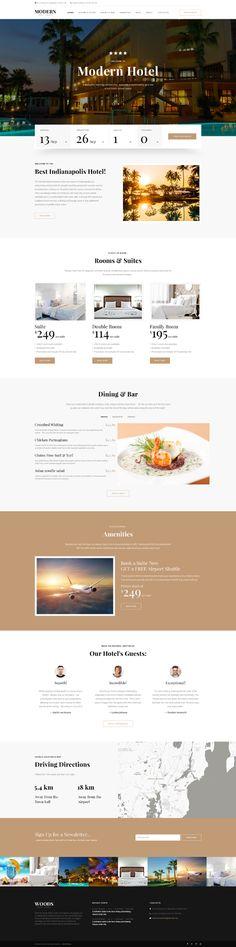 Template 62268 - Modern Hotel  Responsive Website Template