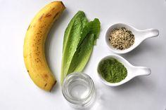 składniki na koktajl z zieloną herbatą