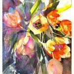 Blumen - Elke Memmler Art Floral, Abstract Flowers, Watercolor Flowers, Great Paintings, Watercolour Painting, Watercolors, Flower Art, Art Drawings, Richard Curtis