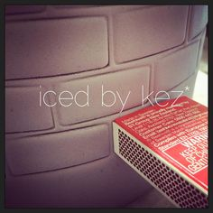 Tip by Iced by Kez - Want a cool tip!? A matchbox can make a really cool brick pattern - for those times when you either don't have a brick impression mat - or when like me you want bigger bricks than the impression mat you own has!.