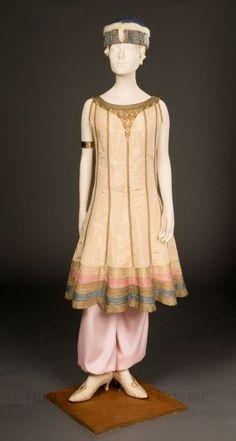 Paul Poiret evening dress with harem pants