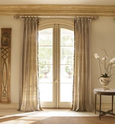 Drapes for arched French doors