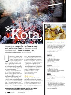 KOTA Anyone (1)-page-001 Swing And Slide, Marinated Steak, South African Recipes, Passion Project, African Culture, Fun Drinks, Street Food, Kids Playing, Love Food