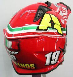 Airoh Motocross Helmet Design #184 ~ Hand Painted Helmets - Design your helmet today..!!