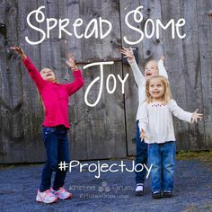 I've challenged our family to do 1 Random Act of Kindness every month.  We call it #ProjectJoy and it's taught our kids to think of others and to be grateful.