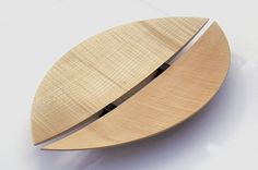 Rosemary Wright sycamore and ebony split-leaf platter