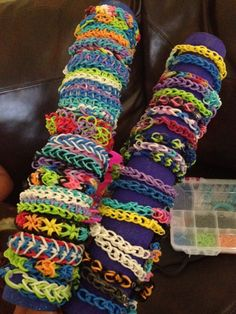 Rainbow Loom Bracelets Premade & Custom by OliviasRainbowLooms, $2.50 #rainbowloom