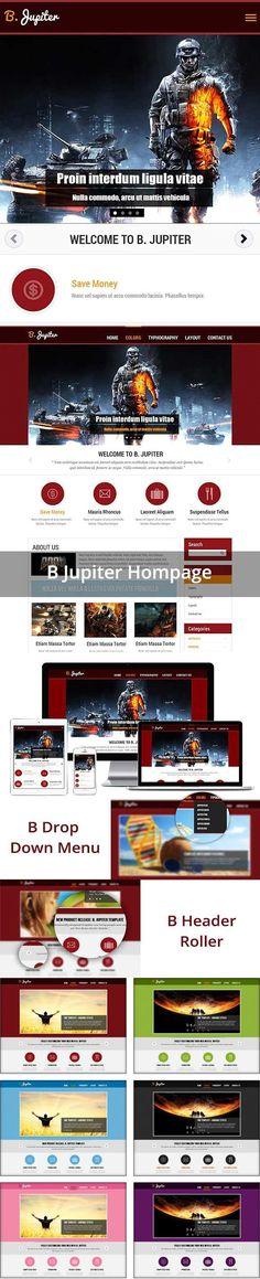 BJ Jupiter Free Templates. Joomla Themes Joomla Themes, Joomla Templates, Building A Website, Visit Website, Photo Galleries, Typography, Free, Letterpress, Letterpress Printing