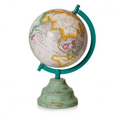 Globe with Wooden Base 16