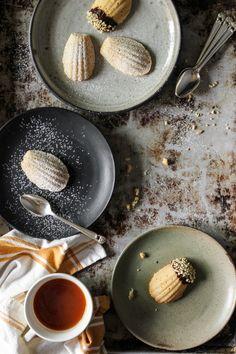 Madeleines! Lemony Earl Grey & Vanilla Bean Dipped in Dark Chocolate and Almonds