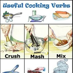 Within recipes in English we find many different actions, and therefore, many different verbs... Tips for cooking vocabulary, cooking tips.