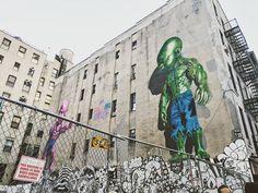 #littleitaly #littleitalynyc #nyc #newyorkcity #newyork #manhattan #downtown #urbanart #urbandecay #decay #oldbuilding #urban #urbanexploration #city #art #urbanart #painting #walls #lookingup #hulk