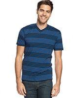 Alfani RED Wide Pop Stripe T-Shirt